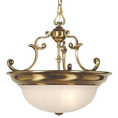Dolan Designs Richland 3-Light Inverted Pendant; Old Brass