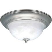 Forte Lighting 1 Light Flush Mount - Marble Glass; 11.75'' H x 5.5'' W / Brushed Nickel