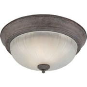 Forte Lighting 1 Light Flush Mount; 11.25'' H x 6'' W / Desert Stone