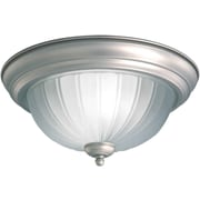 Forte Lighting 1 Light Flush Mount; 11.25'' H x 6'' W / Brushed Nickel