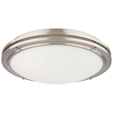 Philips West End 2 Light Flush Mount; Satin Nickel