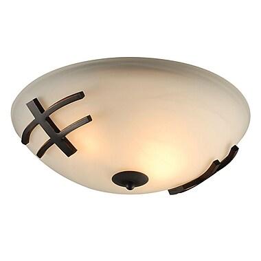 PLC Lighting Antasia 2-Light Flush Mount