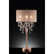 OK Lighting 35'' H Table Lamp with Drum Shade