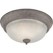 Forte Lighting 11.25'' 2 Light Flush Mount; 11.25'' H x 6'' W / Desert Stone