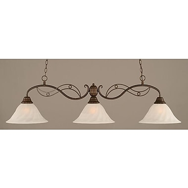 Toltec Lighting Jazz 3 Light Kitchen Island Pendant; Bronze