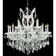 Elegant Lighting Maria Theresa 19 Light  Chandelier; White / Crystal (Clear) / Elegant Cut