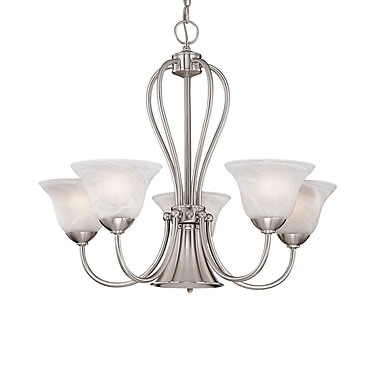Millennium Lighting Main Street 5 Light Shaded Chandelier; Satin Nickel