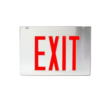 Morris Products 2 Sided Replacement Panel for Exist Sign - Red on Clear Panel and Black Housing