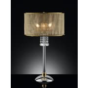 OK Lighting 30.5'' H Table Lamp with Drum Shade