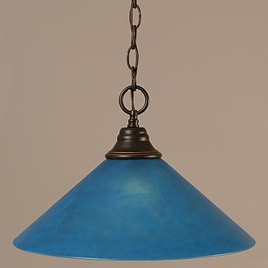 Toltec Lighting 1-Light Downlight Pendant; Dark Granite