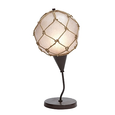Woodland Imports Fishing Net 19'' H Table Lamp with Globe Shade