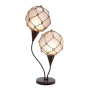 Woodland Imports Metallic Fishing Net 28'' H Table Lamp with Globe Shade