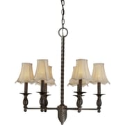 Forte Lighting 6-Light Shaded Chandelier
