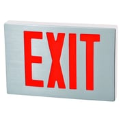 Morris Products Cast Aluminum LED Exit Sign with Red Lettering, Aluminum Housing and White Face