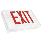 Morris Products Cast Aluminum LED Exit Sign with Red Lettering, White Housing and White Face