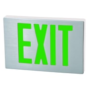 Morris Products Cast Aluminum LED Exit Sign with Green Lettering, Aluminum Housing and White Face