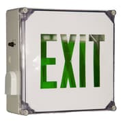 Morris Products Wet Location LED Exit Sign Battery Backup Unit with Green Letter