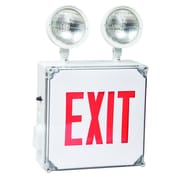 Morris Products Wet Location LED Exit Combo Unit with Red Letter