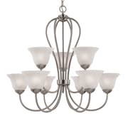 Millennium Lighting Main Street 9-Light Shaded Chandelier; Satin Nickel