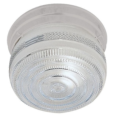 Sunset Lighting 1-Light Flush Mount; White