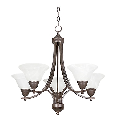 Sunset Lighting Metropolitan 5 Light Chandelier; Rubbed Bronze