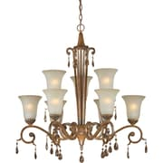 Forte Lighting 9-Light Shaded Chandelier