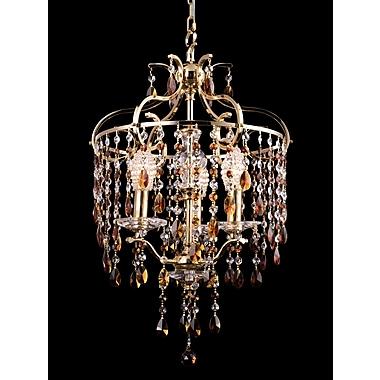 Dale Tiffany 3-Light Crystal Chandelier