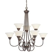 Millennium Lighting Fulton 9-Light Shaded Chandelier; Rubbed Bronze