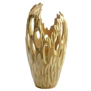 Foreign Affairs Home Decor Flame 16'' H Table Lamp with Novelty Shade; Natural