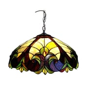 Chloe Lighting Tiffany Style Victorian Hanging Lamp