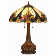 Chloe Lighting Tiffany Victorian 24'' H Table Lamp with Bowl Shade
