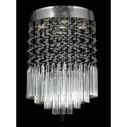Worldwide Lighting Torrent 5 Light Semi-Flush Mount; Clear