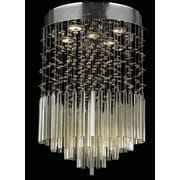 Worldwide Lighting Torrent 5 Light Semi-Flush Mount; Golden Teak
