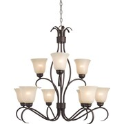 Maxim Lighting Basix EE 9-Light Chandelier; Oil Rubbed Bronze