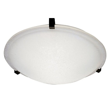 PLC Lighting Nuova Flush Mount; Polished Chrome / Frost / 4'' H x 16'' W / J118mm