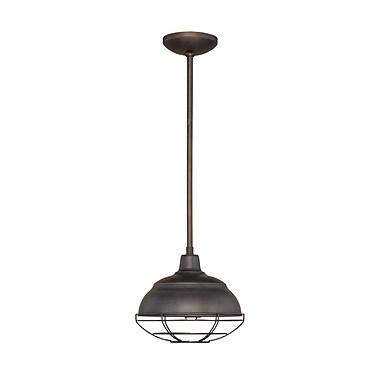 Millennium Lighting Neo-Industrial 1-Light Mini Pendant; Rubbed Bronze