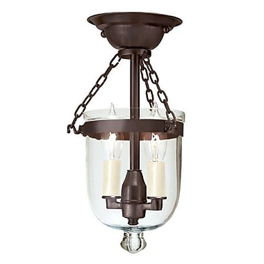 JVI Designs 2-Light Tiny Semi Flush Mount; Oil Rubbed Bronze