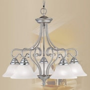 Livex Lighting Coronado 5 Light Chandelier; Brushed Nickel