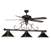 RAM Game Room 3 Light Billiard Light with Ceiling Fan