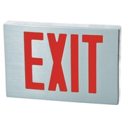 Morris Products Cast Aluminum LED Exit Sign with Red Lettering, Aluminum Housing and Aluminum Face
