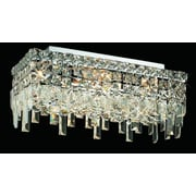 Elegant Lighting Maxim 4 Light Semi Flush Mount; 16'' / Elegant Cut
