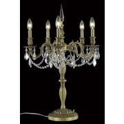 Elegant Lighting Rosalia 28'' H Table Lamp w/Novelty Shade; French Gold / Smoky / Strass Swarovski