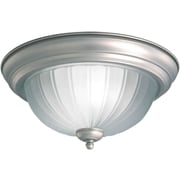 Forte Lighting 1 Light Flush Mount; 15.25'' H x 6.5'' W / Brushed Nickel