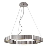 Access Lighting Titanium 6 Light Cable Chandelier with Frosted Glass