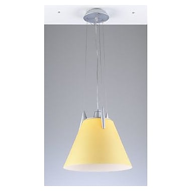 PLC Lighting Pinnacle 1 Light Pendant; Amber