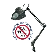 Alvin and Co. Swing-Arm Magnifier 36'' Table Lamp; Black