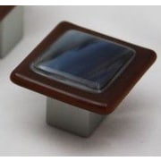 Grace White Glass Wildwing Bar Pull; 1.5'' H x 1.5'' W x 1'' D