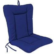Jordan Manufacturing Outdoor Dining Chair Cushion; Veranda Cobalt