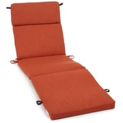 Blazing Needles Outdoor Chaise Lounge Cushion; Cinnamon
