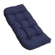 Blazing Needles Outdoor Loveseat Cushion; Mocha